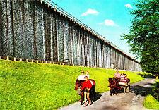 Bad Rothenfelde , Neues Gradierwerk mit Ponywagen , Ansichtskarte, ungelaufen
