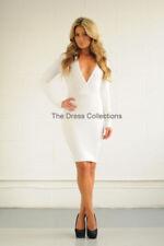 Vestiti da donna senza maniche bianco acrilico