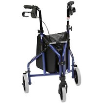 Drive Ultra Lightweight Folding Aluminium Tri Walker Height Adjustable Brakes