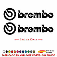 2X PEGATINA BREMBO PINZAS DE FRENO 10 CM COCHE CALIPER VINILOS ADHESIVO STICKER
