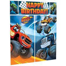 6ft Blaze Monster Machines Scene Setters Kit Truck Kids Party Prop Backdrop UK