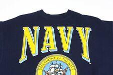 Vintage Navy Crew Neck Sweatshirt Made in USA
