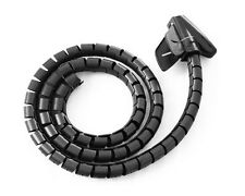 Cable tidy kit tv pc wire organiser home cinema wrap plomb office spirale bandes r