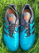 Adidas football boots, UK men size 10.5 Malice, moulded studs, used, VGC, blue