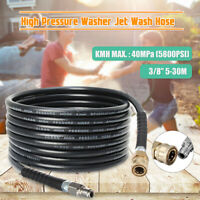 10/20/30M Pressure Washer Hose 4000psi Heavy Duty 3/8'' Quick Release Couplings