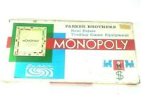 Vintage Parker Brothers Real Estate Trading Game Equipment - Monopoly Board Game