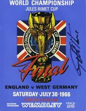 Signed Geoff Hurst England 1966 World Cup Final Autograph Replica Programme