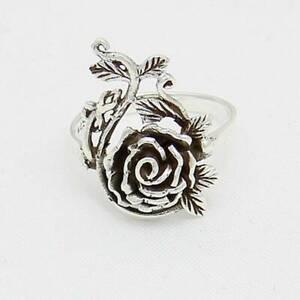 Rose Ring 925er Silber 62 mm Innendurchmesser Symbol Schmuck - NEU