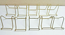 Plate Stand Gold Twisted Metal Lot of 10 Small