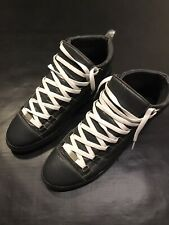 BALENCIAGA ARENA HIGH TOP GRAY LEATHER 45 SZ 12 MENS SNEAKERS SHOES AUTHENTIC