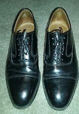 Mens 9.5 D Johnston & Murphy Optima Black Leather Oxford Shoes Lace Up Cap Toe