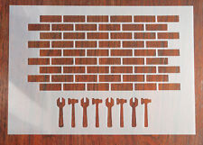 1:6 Scale Brick Wall Stencil Mask Reusable Mylar Sheet for Arts & Crafts