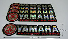 5x New YAMAHA FACTORY RACING  Foil  Motocross   Decals Sticker Red
