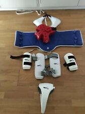 Tae Kwon Do and combat sports protective gear full set - size 3 or S with bag