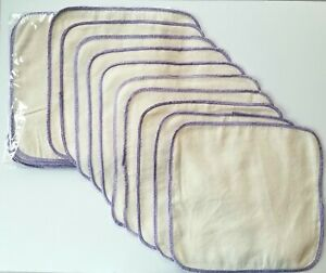 """20 Count Cloth Flannel 8"""" Squares Natural 100% Cotton 