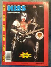 KISS REUNION TOUR MAGAZINE 1996 KISS ARMY MAGAZINE No#1. English Edition. RARE.