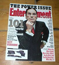 ENTERTAINMENT WEEKLY mag OZZY OSBOURNE Most Powerful People 2002 John Denver