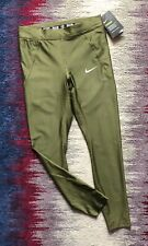 Nike Power Womens Green Khaki Activ Sports Tight Size S BNWT