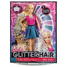 Barbie Glitter Hair Doll Set Fashion playset