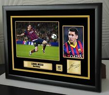 """Lionel Messi Framed Canvas Print Signed  """"Great  Gift or Souvenir"""""""
