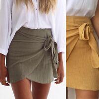 Cotton Wrap Skirts - Mustard and Khaki