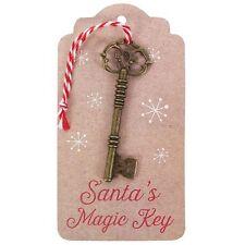 Santa magic key-noël charme on gift tag-père noël elf porte ouverte