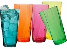 10 PC Acrylic Drinkware Set Everyday Drinking Glasses Plastic Cup Assorted Color