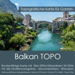 Balkan Topo Garmin Karte 8GB Karte für Navigationsgerät sowie PC & MAC