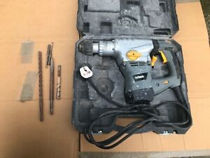 Titan Rotary Hammer drill in case 1500w with various bits