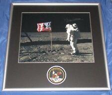 APOLLO 11 / BUZZ ALDRIN Signed/Autograph Framed Moon Shot w/Patch ~NASA w/COA