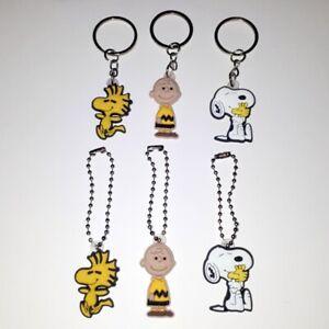Charlie Brown Snoopy Woodstock Peanuts Keyring Key Ring Keychain Zipper Charm