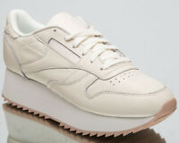Reebok Women's Classic Leather Double New Lifestyle Shoes Chalk Beige CN5491