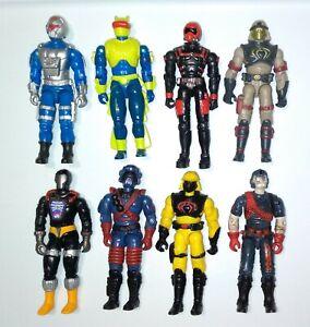 "Lot of 8 GI Joe Cobra 3.75"" 1:18 scale action figures Neo Sub Shock Rock Viper"