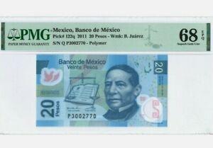 2011 MEXICO 20 Pesos PMG68 EPQ SUPERB GEM UNC【P-122q】 'Polymer'