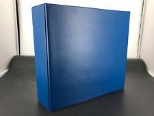 Lindner Lagerringbuch für über 100 Blankoblätter wie 1102y Blau neuwertig