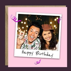 Personalised HARRY STYLES One Direction ANY OCCASION Birthday Card Her Daughter