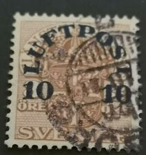 1920 Air. Official stamps surch LUFTPOST : 10 on 3ore - brown used
