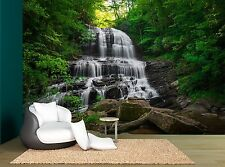 Green Waterfall Trees Rocks Forest Wall Mural Photo Wallpaper GIANT WALL DECOR