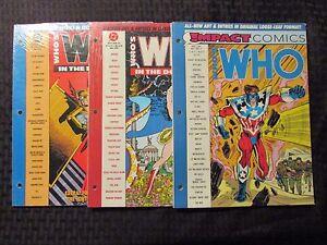 1991 WHO'S WHO Impact Comics #1 & DC Universe #4 6 SEALED Wonder Woman Hawkman