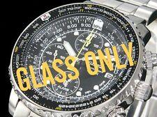 Seiko original verre cristal pour flightmaster pilote 7t62-0eb0 sna411j1 sana41