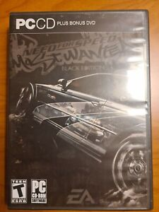 Need for Speed Most Wanted Black Edition PC CD-ROM + DVD (4Discs No Manal) Rare