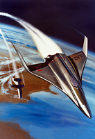 """1970 Early NASA Space Shuttle Concept Art #2 Vintage Old Print 13"""" x 19"""" Reprint"""