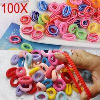 100PCS Women Girls Elastic Scrunchies Rubber Hair Ties Ponytail Holder Band Rope