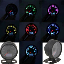 "2.5""/62mm 2in1 7 Color Light Car Truck Turbo Boost Gauge Voltage Meter Universal"