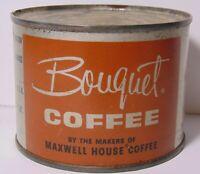 TINY Vintage 1950s BOUQUET MAXWELL HOUSE COFFEE TIN 4 Oz White Plains New York