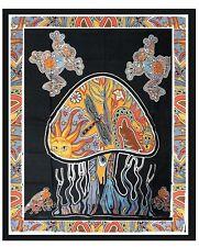 Large Black Mushroom Indian Tapestry Mandala Cotton Wall hanging Psychedelic UK