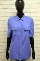 Camicia LUISA SPAGNOLI Donna Taglia 44 M Maglia Blusa Shirt Woman Viola Elastico