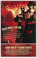 TALIB KWELI & HI-TEK 2010 Gig POSTER Portland Oregon Concert