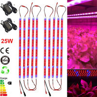 LED Grow Light Strips lamp Red+Blue 25W  for Greenhouse Hydroponics + DC Power