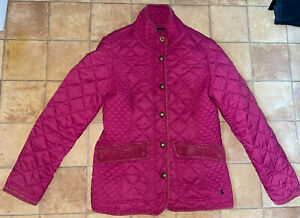 Joules Ladies Pink Quilted Jacket, Size 12, Very Good Condition